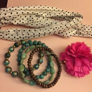 BUNDLE -BAN.DO HAIR ACCESSORIES + Set Of Bracelets